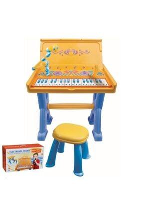 VARDEM OYUNCAK Mavi Çocuk Tabureli Masa Ve Elektronik Org Oyuncak