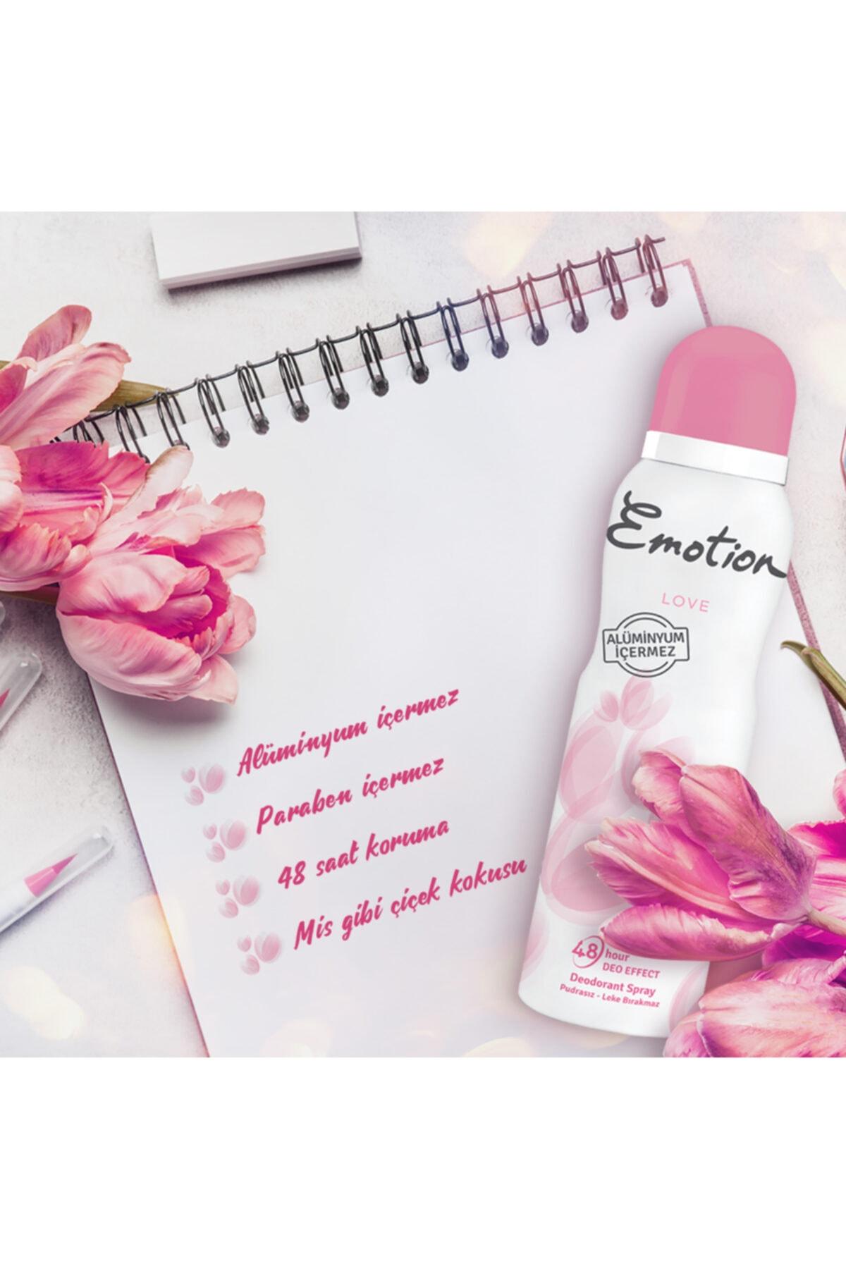 Emotion Love 3'lü Kadın Deodorant 150 ml x 3 2