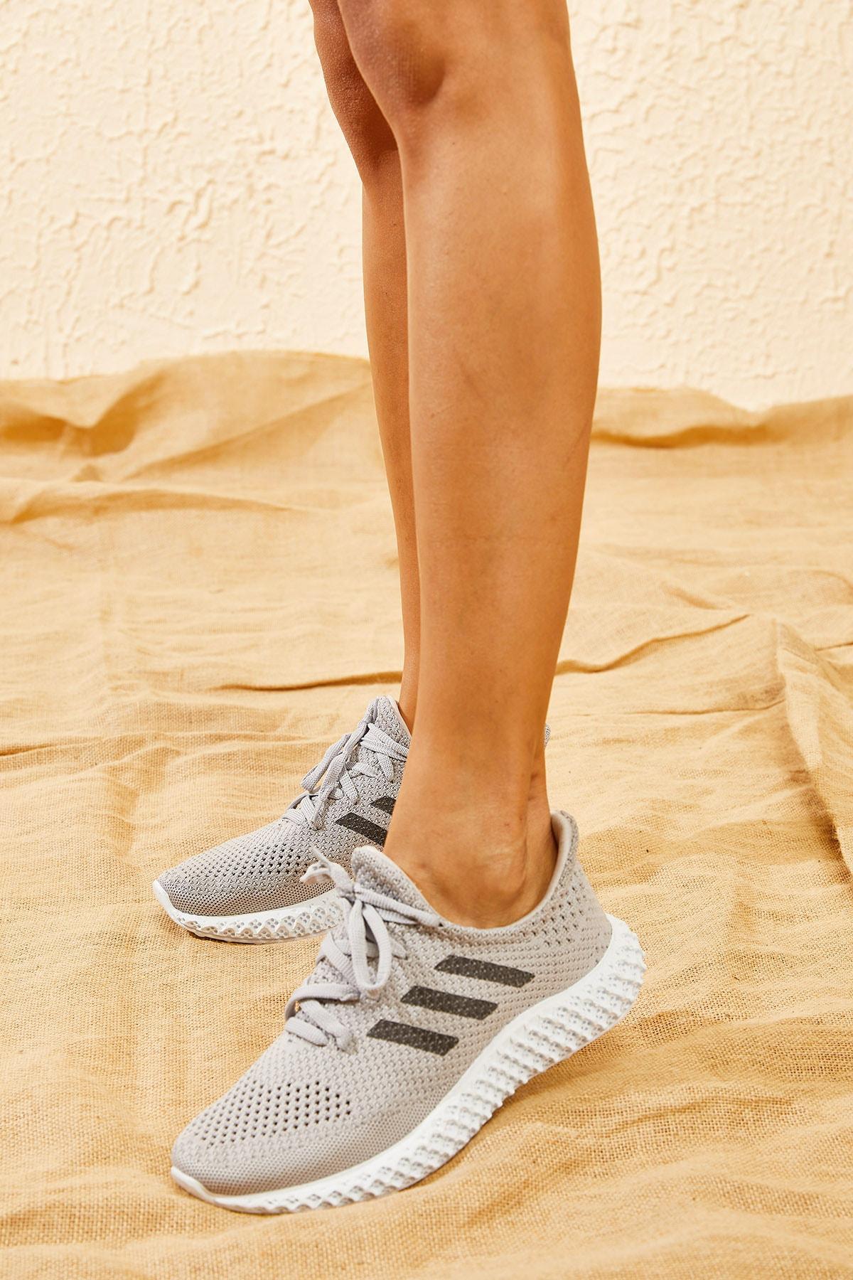 Bianco Lucci Kadın Füme Rahat Triko Örme Ayakkabı AYKB001 2