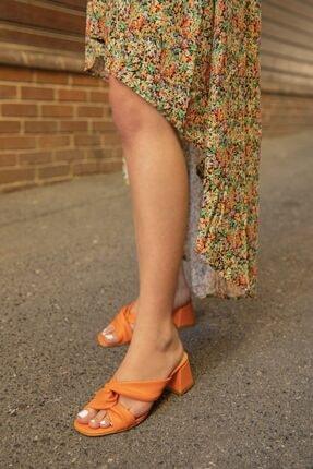STRASWANS Kadın Turuncu Victoria Topuklu Terlik