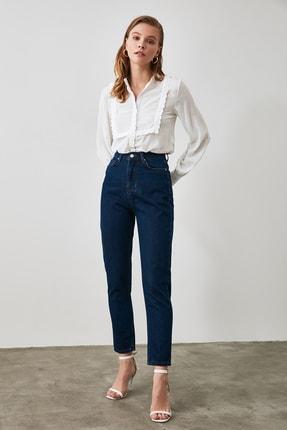 TRENDYOLMİLLA Lacivert Yüksek Bel Mom Jeans TWOAW21JE0382