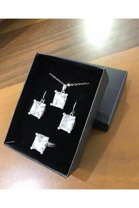 Elite Kadın Gümüş Rengi Takı Seti