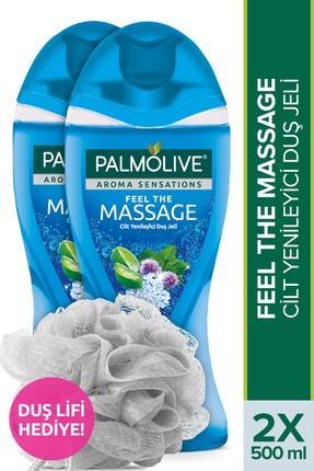 Palmolive Aroma Sensations Feel The Massage Cilt Yenileyici Banyo ve Duş Jeli 500 ml x 2 + Duş Lifi Hediye