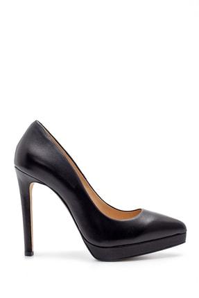 Derimod Kadın Siyah Deri Topuklu Ayakkabı