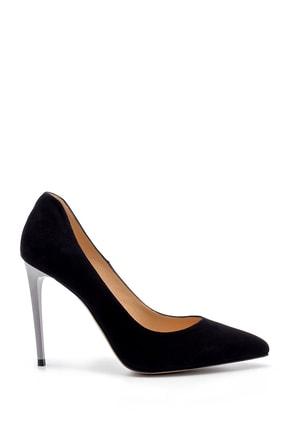 Derimod Kadın Siyah Süet Stiletto