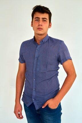 Mcr Slim Fit Bambu Kısa Kollu Yazlık Erkek Gömlek 37911 Model