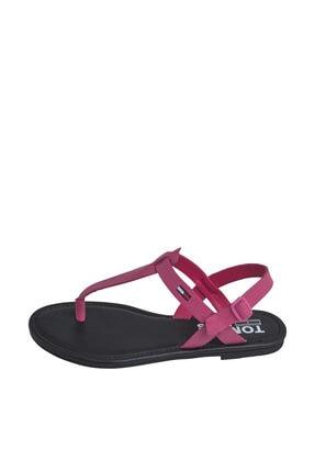 Tommy Hilfiger Kadın Kırmızı Sandalet Color Block Basıc Thong Sandal EN0EN00908