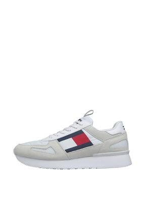 Tommy Hilfiger Erkek Beyaz Sneaker Tommy Jeans Lıfestyle Runner EM0EM00410