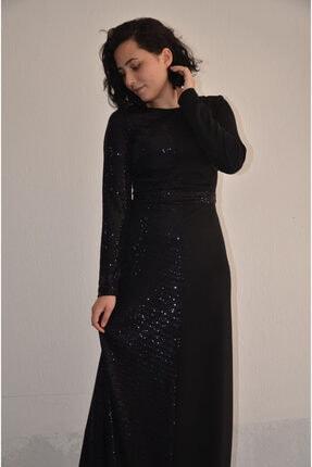 zeynep Kadın Siyah  Krep Elbise