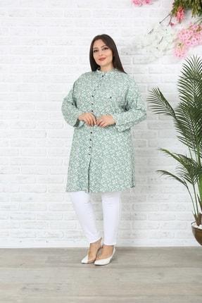 XL Modam Kadın Büyük Beden Çiçekli Tunik