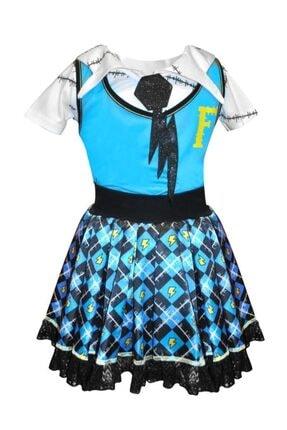 MONSTER HIGH Kız Çocuk Frankie Kostüm (7-9)