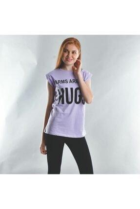 New Look Kadın Mor Vatkalı T-shirt