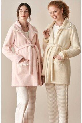 Feyza 3926 Polar Sabahlıklı Lohusa Pijama Takımı