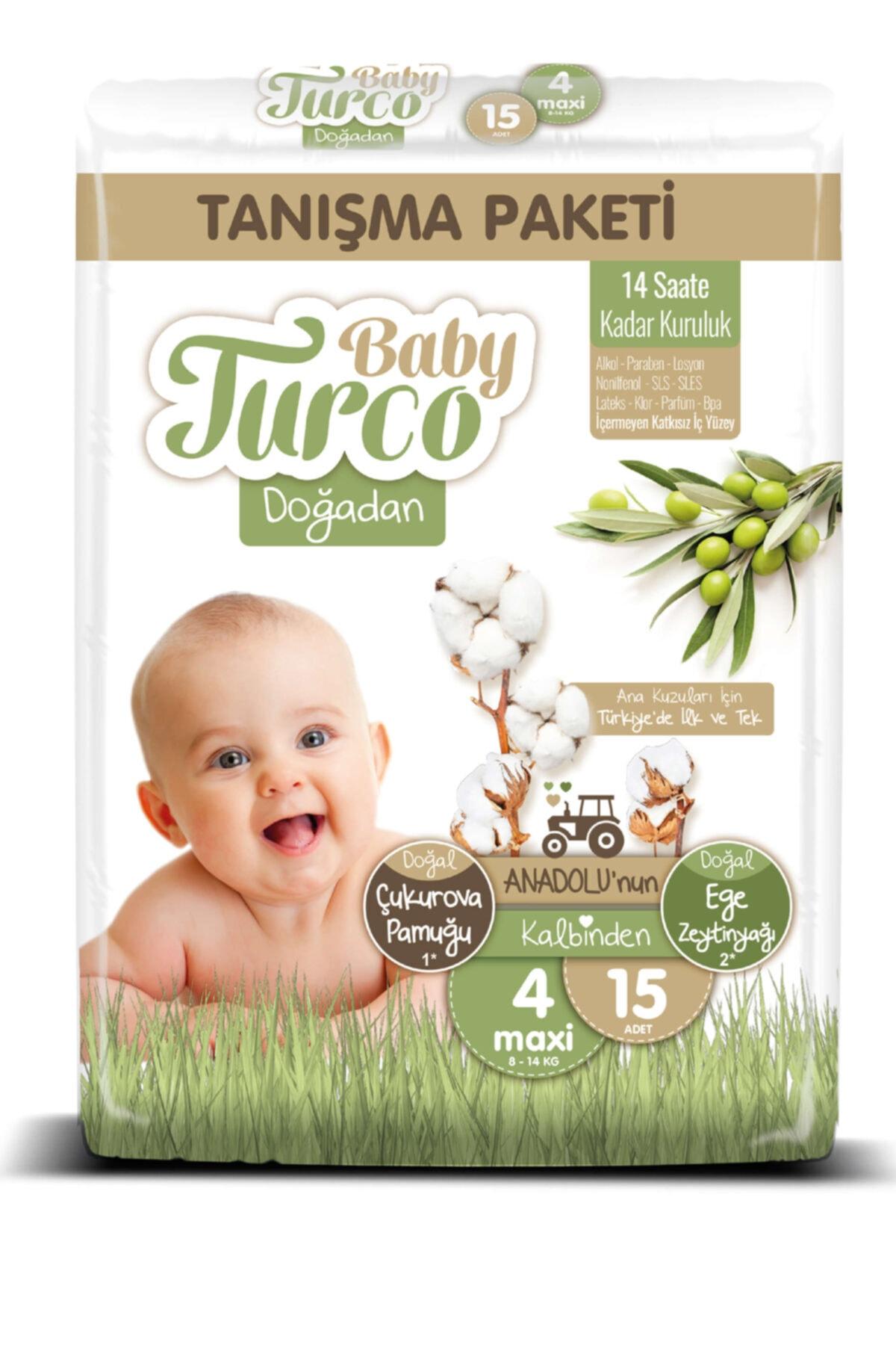 Baby Turco Doğadan 4 Numara Maxi Tanışma Paketi 15 Adet 2
