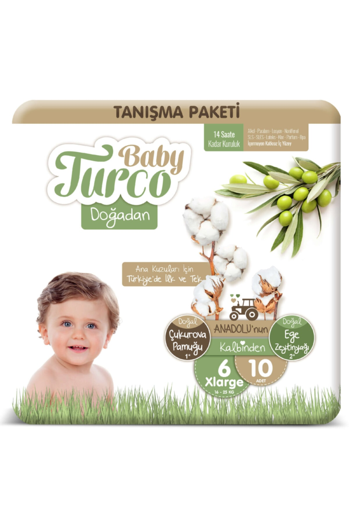 Baby Turco Doğadan 6 Numara Xlarge Tanışma Paketi 10 Adet 1