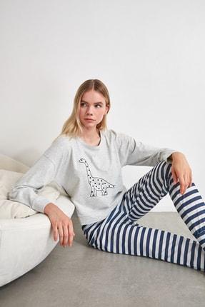 TRENDYOLMİLLA Baskılı Örme Pijama Takımı THMAW21PT0240