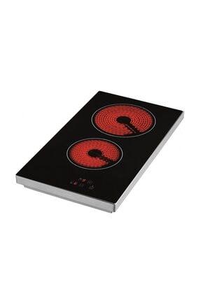 Eminçelik Vc 320 2 Gözü Elektrikli Vitro Seramik Siyah Set Üstü Ocak