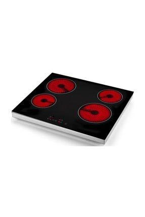 Eminçelik Vc 640 4 Gözü Elektrikli Vitro Seramik Siyah Set Üstü Ocak