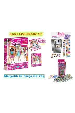 Dıy Toy/Taba Grup Iki Ürün Barbie Dress Up Fashionistas Manyetik Kıyafet Giydirme+magnet Set