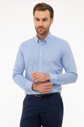 Pierre Cardin Erkek Mavi Slim Fit Gömlek G021SZ004.000.1011889