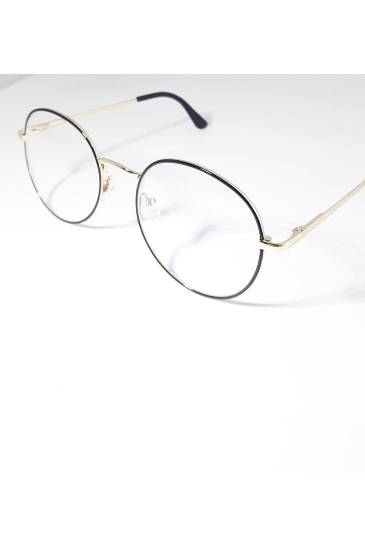 Vintage Mavi Işık Engelleme Gözlük Anti Gözlük Bilgisayar Okuma Gözlükleri Uv400 Şeffaf Lens Siyah Çerçeve 2