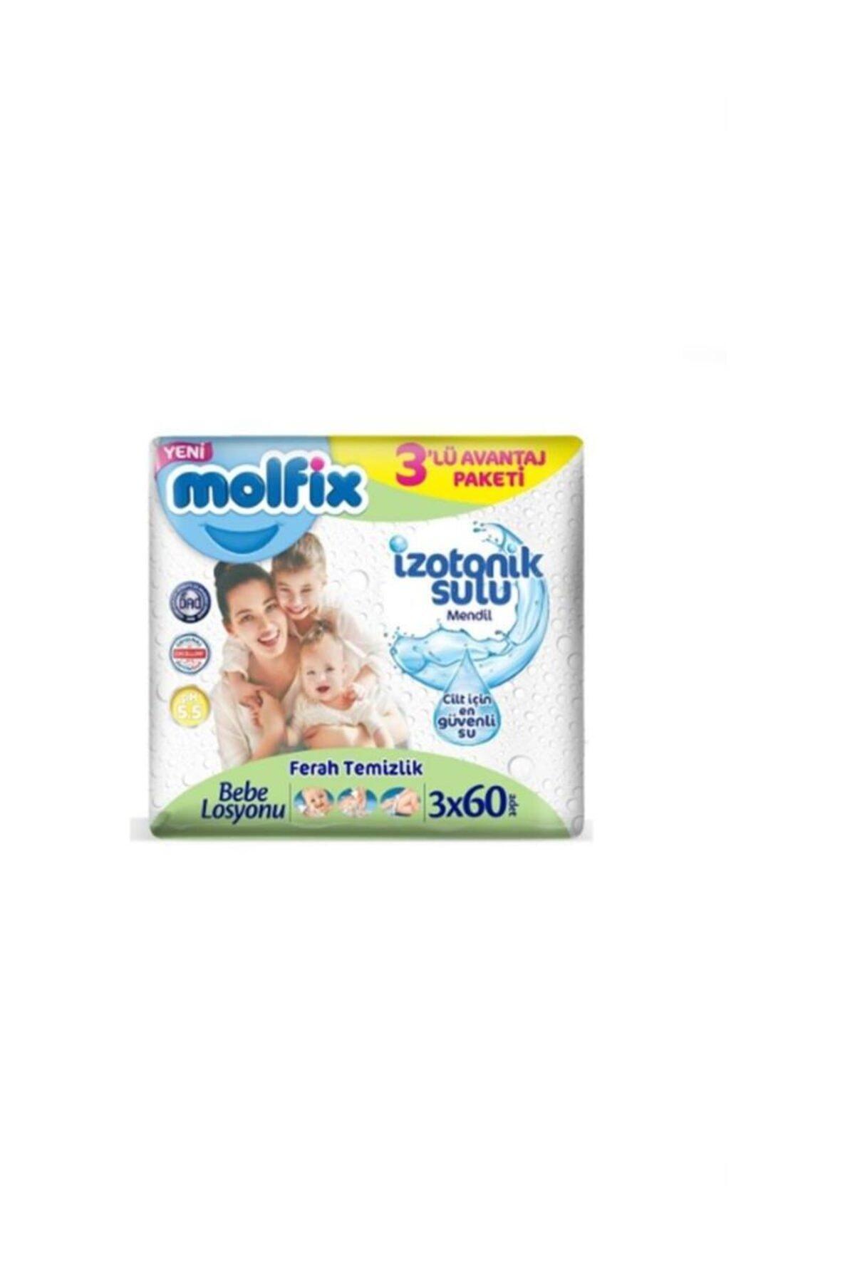 Molfix İzotonik Islak Havlu Ferah Temizlik 3'lü Paket 180 Yaprak 2