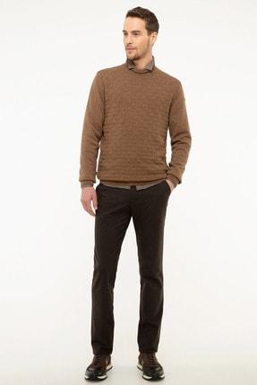 Pierre Cardin Erkek Kahverengi Regular Fit Chino Pantolon