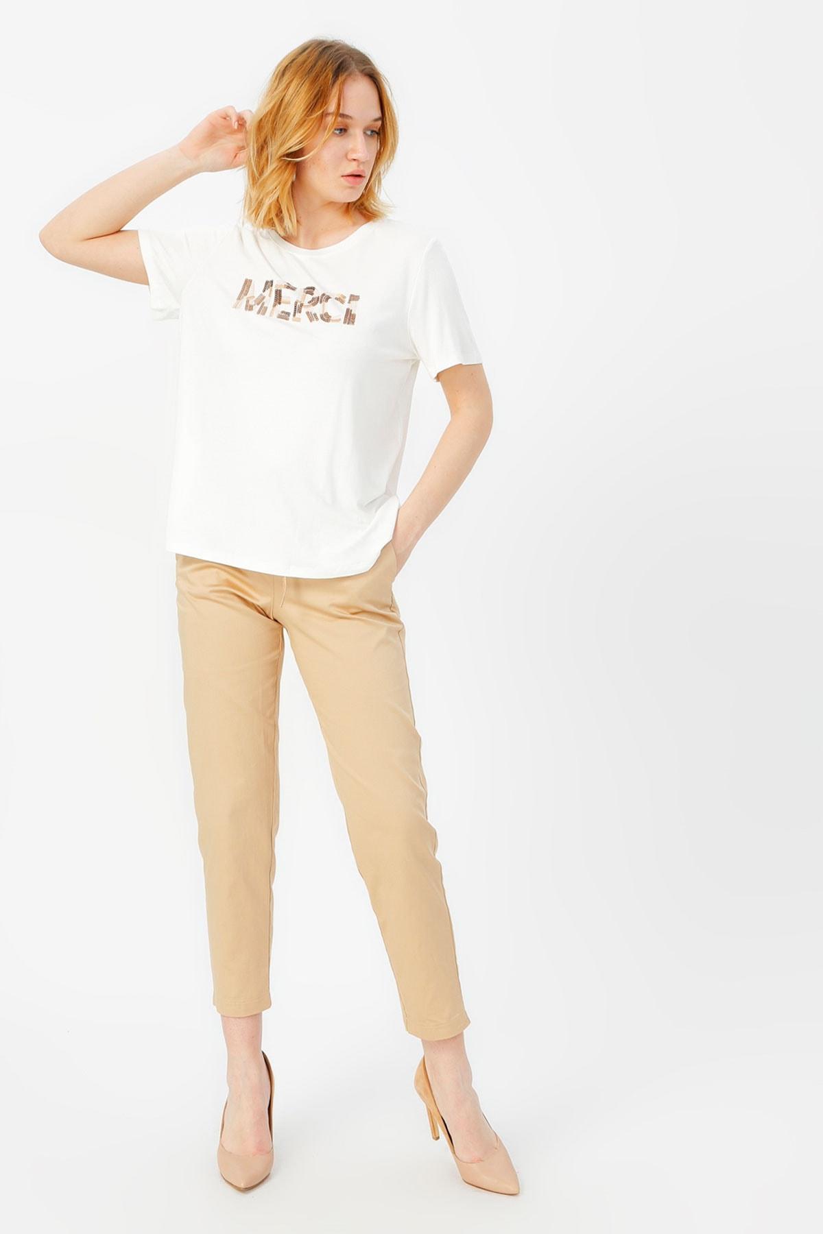 FABRIKA COMFORT Kadın Beyaz Tişört 504396015 2