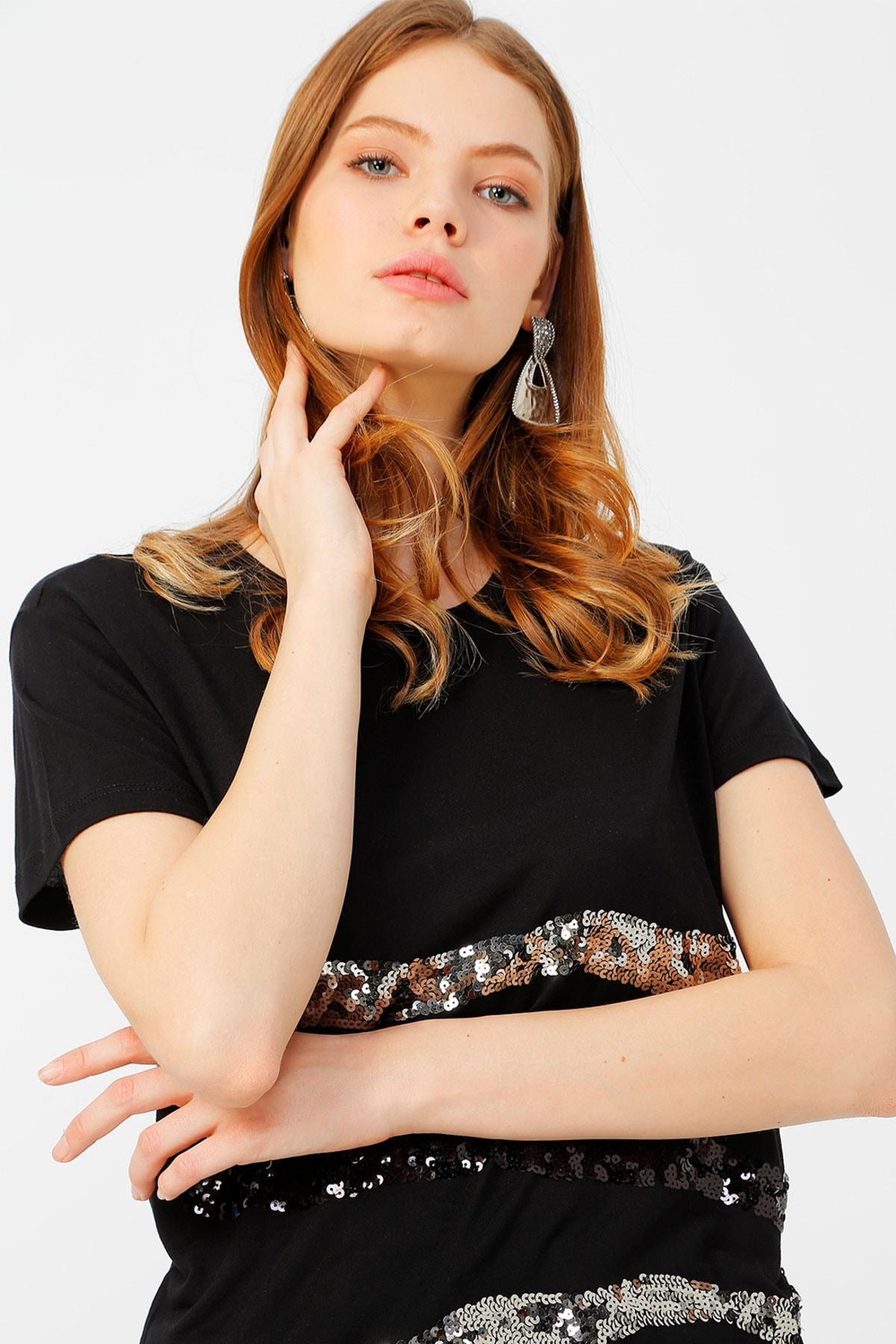 Fabrika Kadın Siyah Tişört 504395890 Boyner 1