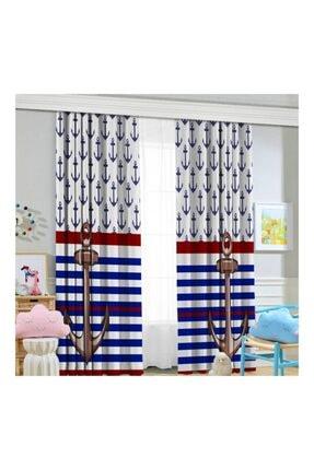 Jungle Çapalı Çocuk Odası Fon Perde 70x260 cm
