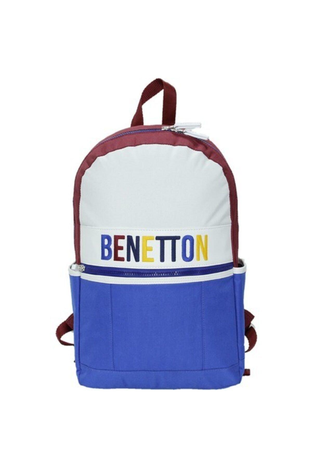 Benetton Unisex Mavi Sırt Çantası 1