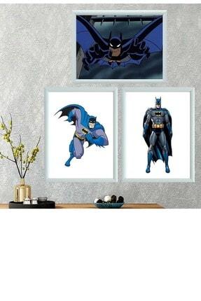 Kostüm Sarayı Batman Üçlü Takım Çerçeveli Poster Tablo
