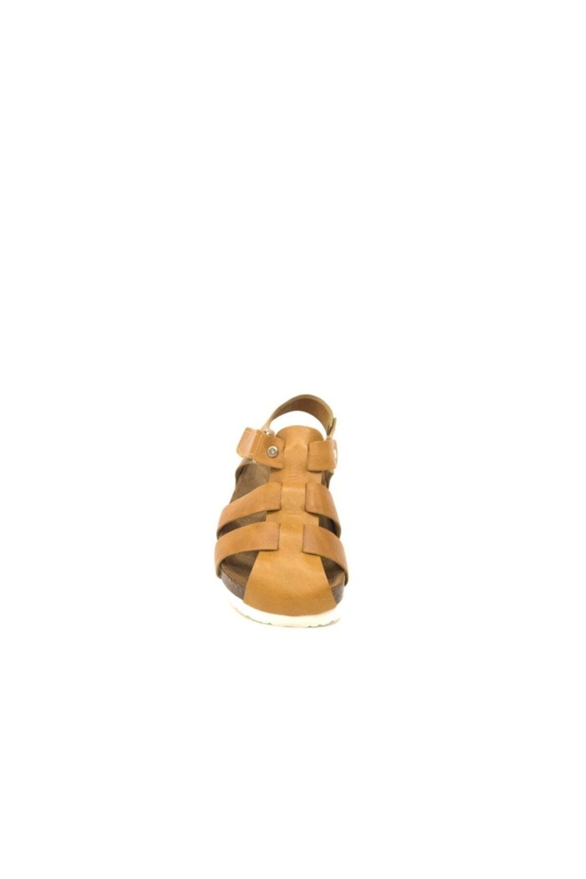 Tuğba Ortopedi Erkek Çocuk  Kahverengi Hakiki Deri Sandalet 2