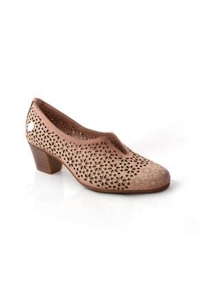 Mammamia Kadın Bej Topuklu Deri Ayakkabı 20ya715