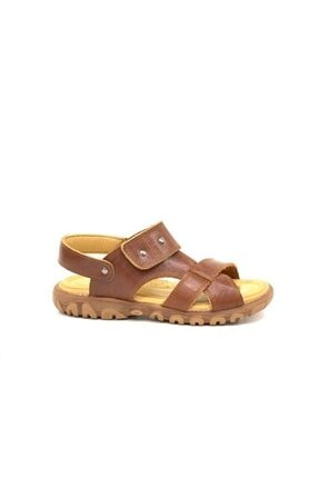 Toddler Erkek Çocuk Kahverengi Hakiki Deri Sandalet 2356