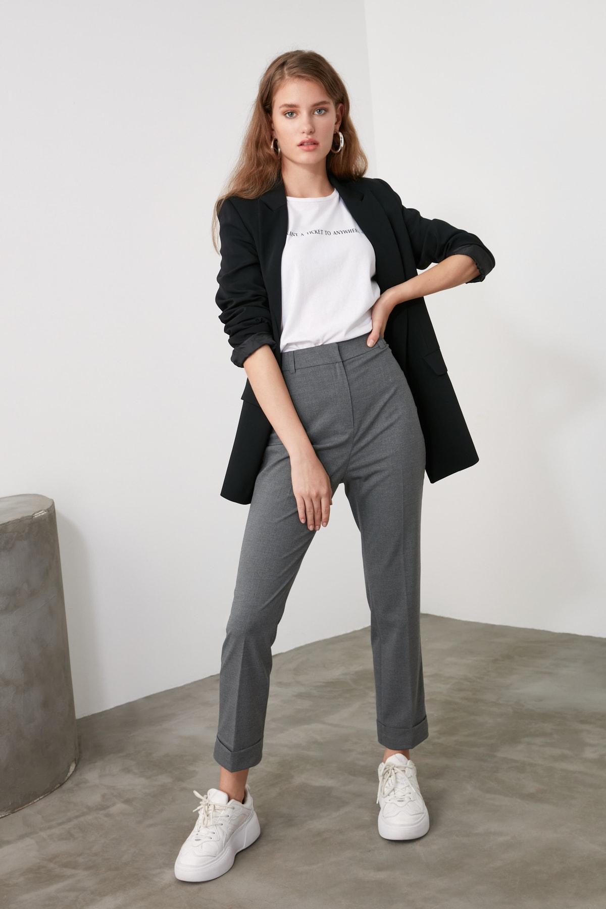 TRENDYOLMİLLA Antrasit Basic Pantolon TWOAW21PL0295 2