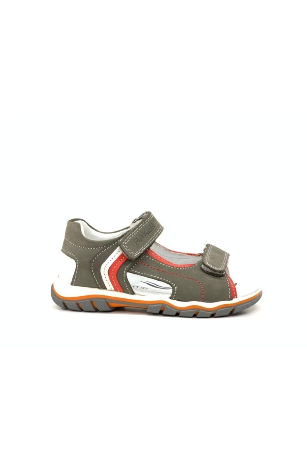 Tuğba Ortopedi 2332 Erkek Çocuk Hakiki Deri Sandalet 1