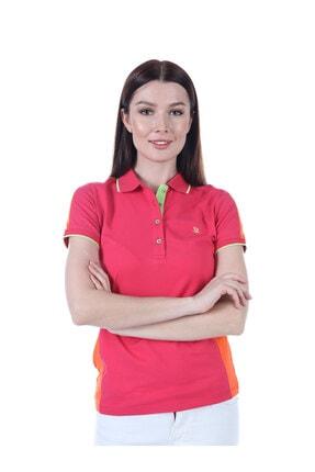 Giorgio Di Mare Kadın Fuşya Kısa Kollu Polo T-shirt