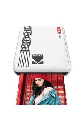 Kodak Mini 3 Retro Akıllı Telefon Fotoğraf Yazıcısı - Beyaz
