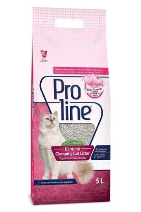 Pro Line Bebek Pudrası Kokulu Ince Tane Topaklanan Kedi Kumu 5 lt
