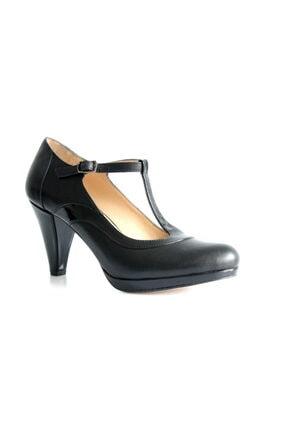 Beta Kadın Siyah Deri Ayakkabı
