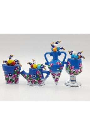 Trendyıldızı Testi, Saksı, Ibrik Ve Kadeh Figürlü Marina Çiçekli Buzdolabı Magnet