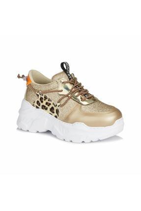 Vicco Kız Çocuk Altın Bağcıklı Sneaker