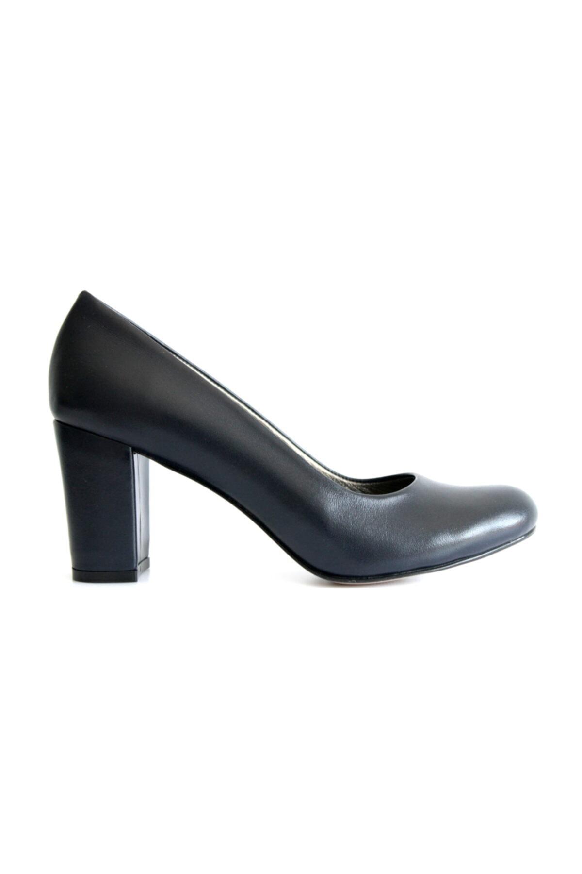 Beta Kadın Lacivert Deri Ayakkabı 2