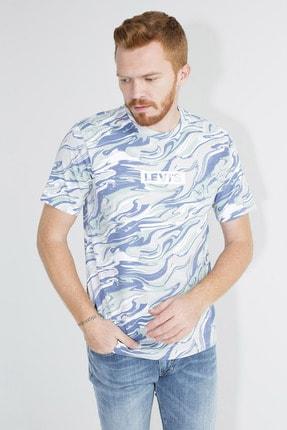Levi's Erkek Lacivert Desenli Logo Baskılı Bisiklet Yaka Rahat Kesim T-Shirt 161430051