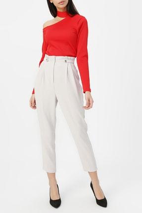 RANDOM Kadın Kırmızı Kol Detaylı Bluz