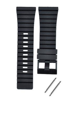 Diesel 28mm Saat Uyumlu Siyah Renk Silikon Saat Kordonu Kayışı