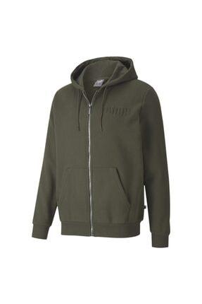 Puma MODERN BASICS FZ HOODIE F Haki Erkek Sweatshirt 101119448