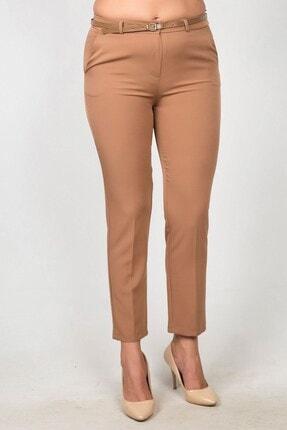 Womenice Kadın Vizon Yüksek Bel Klasik Kumaş Büyük Beden Pantolon