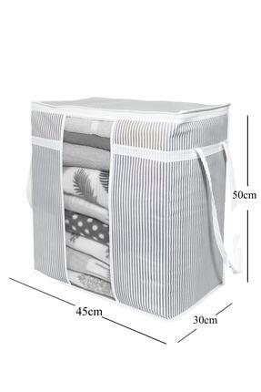 BTS Shop Pencereli Saklama Çantası Çizgili 50x45x30cm